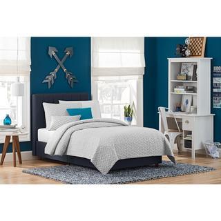 Taylor & Olive Houghton Blue Linen Upholstered Bed