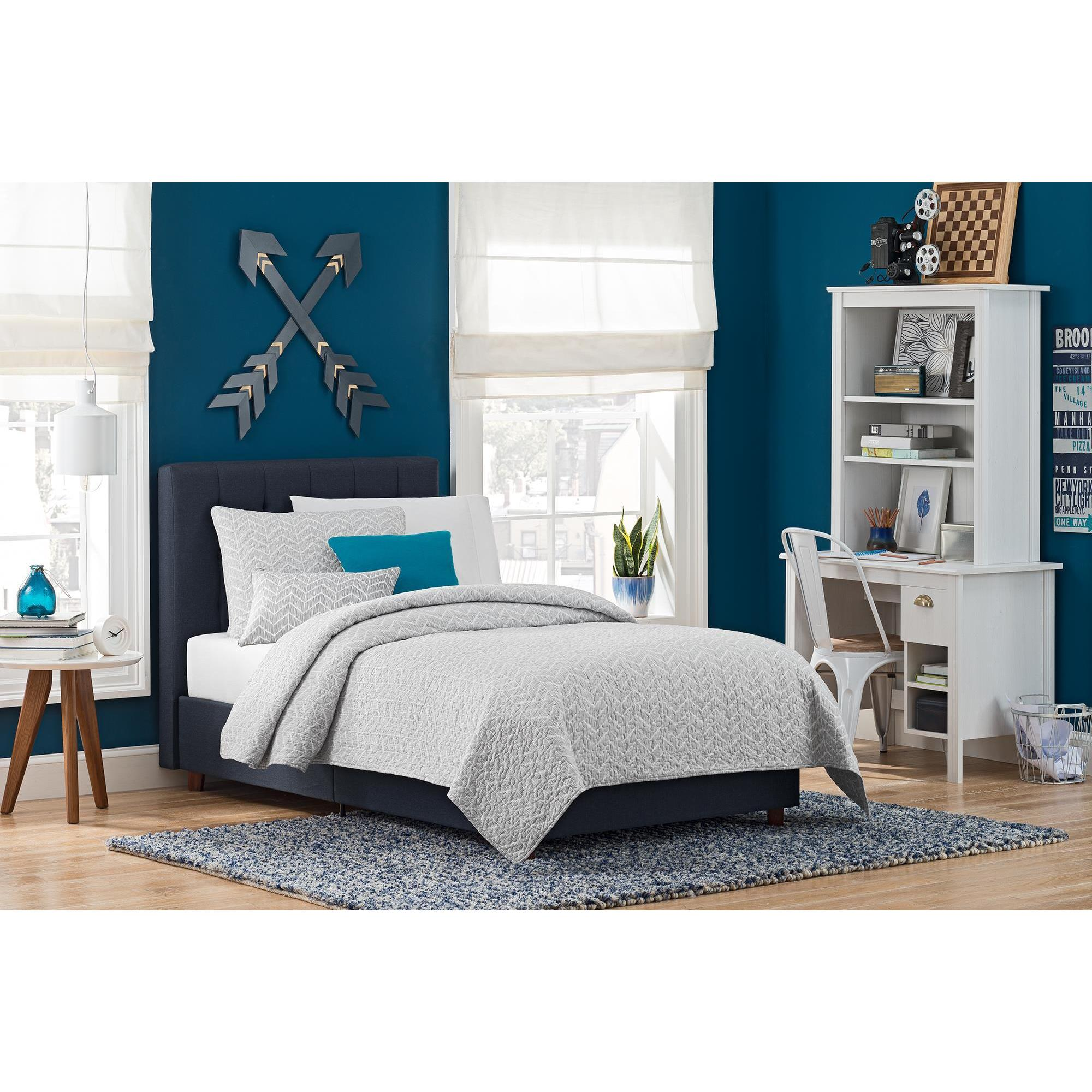 dhp emily blue linen upholstered bed free shipping on orders over