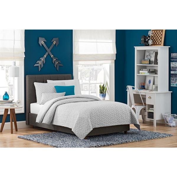 DHP Emily Grey Linen Upholstered Bed