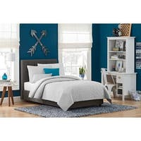 DHP Emily Grey Linen Upholstered Bed
