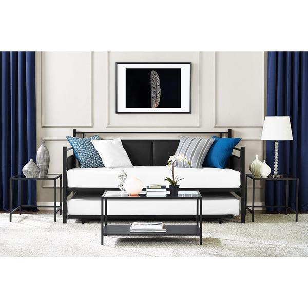 Porch & Den Putra Metal and Upholstered Daybed and Trundle