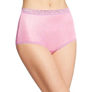 Hanes Women's Nylon Brief Panties Colors may vary (Pack of 6)