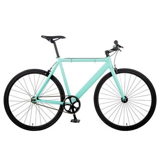 6KU Blue Aluminum Single-speed Fixie Urban Track Bike
