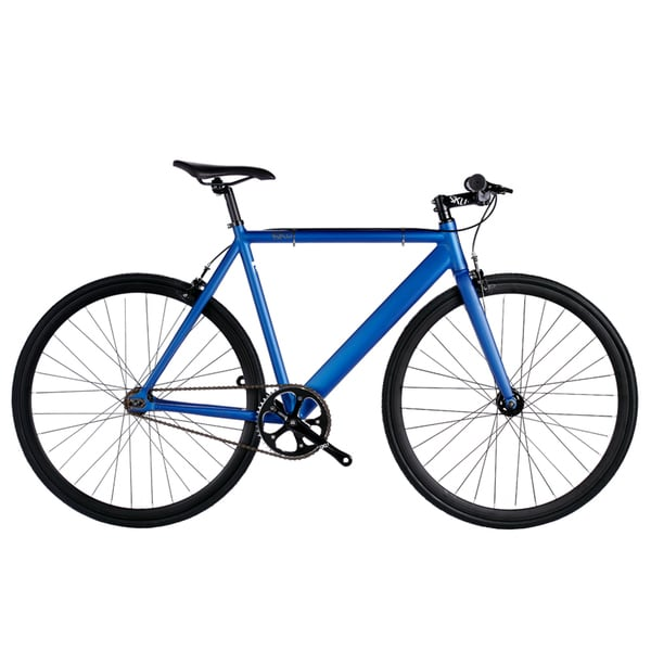 6KU Satin Navy Blue Aluminum Single-speed Urban Track Bike