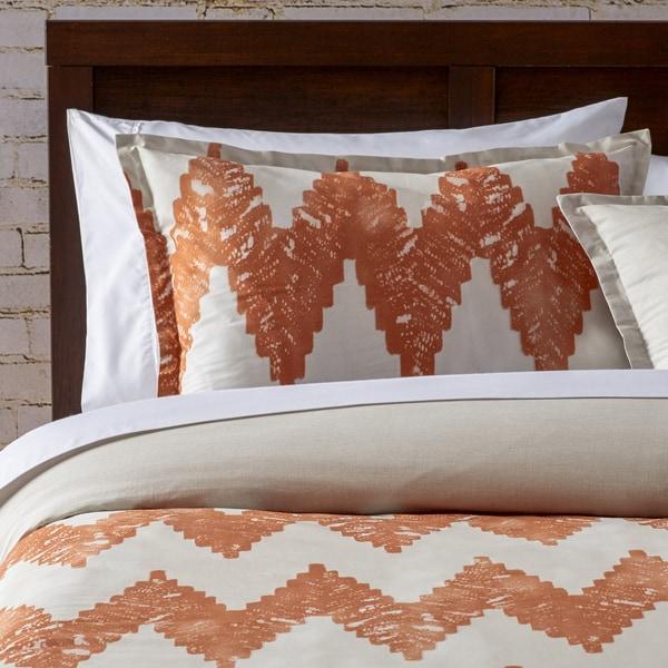 City Scene Kuma Copper Chevron Comforter and Sham Set