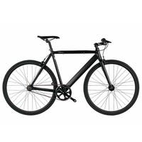 6KU Black Aluminum Single-speed Fixie Urban Track Bike
