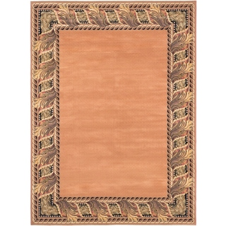 Ecarpetgallery Lotus Mod Blue, Brown Polypropylene Rug (7'11 x 10'8)