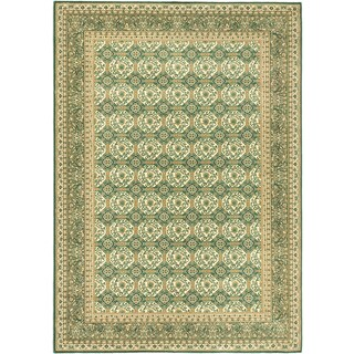 Ecarpetgallery Royale Blue, Green Wool Rug (5'7 x 8'0)