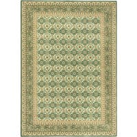 Ecarpetgallery Royale Blue, Green Wool Rug - 5'7 x 8'0