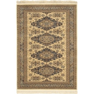Ecarpetgallery Royale Yellow Wool Rug (4'7 x 6'7)