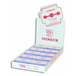Merkur Corn Planer Blades Display Box (10 Packs of 10 Blades Each)