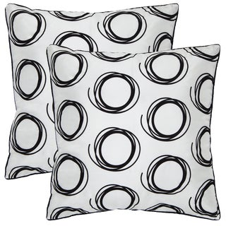 Artist's Loom Decorative Removable Cover 18-inch Square Pillow (Set of 2)