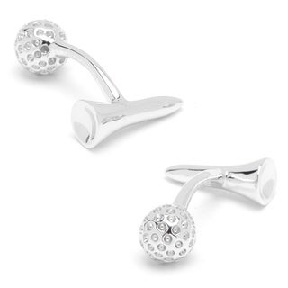 Cufflinks Inc. Double-sided Sterling Silver Golf Ball and Tee Cufflinks
