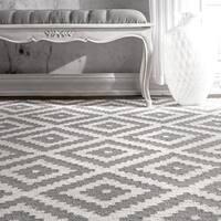nuLOOM Handmade Abstract Wool Fancy Pixel Trellis Rug - 2' x 3'