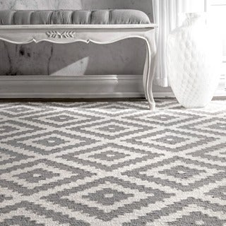 nuLOOM Handmade Abstract Wool Fancy Pixel Trellis Rug (2' x 3')