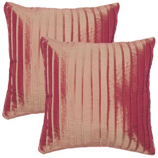 Artist's Loom Decorative Pleated Removable Cover 18-inch Square Pillow (Set of 2)