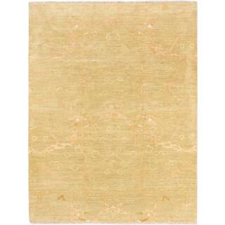Ecarpetgallery Peshawar Oushak Green Wool Rug (6'2 x 7'11)