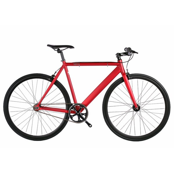 6KU Burgundy Aluminum Single-speed Fixie Urban Track Bike