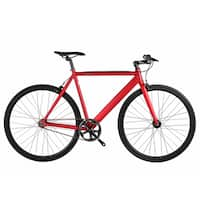6KU Burgundy Aluminum Single-speed Fixie Urban Track Bike