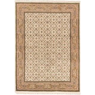 Ecarpetgallery Tabriz Haj Jalili Blue  Wool Rug (5'7 x 7'9)