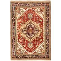 Ecarpetgallery Serapi Heritage Orange  Wool Rug (4'2 x 6'0)