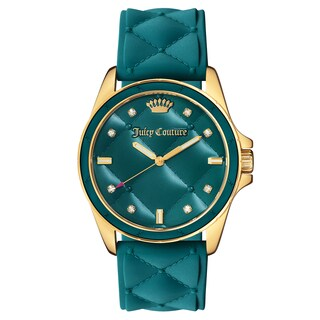 Juicy Couture Women's Gold and Green Silicon and Stainless-steel Watch