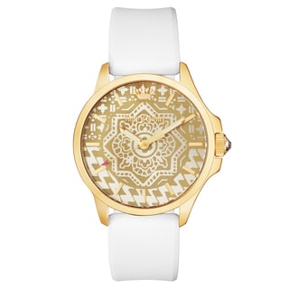 Juicy Couture Women's Jetsetter Brass/Stainless Steel Case Silicone Strap Watch