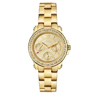 Juicy Couture Goldtone Stainless Steel Japanese Quartz Women's Watch|https://ak1.ostkcdn.com/images/products/13391496/P20088739.jpg?impolicy=medium