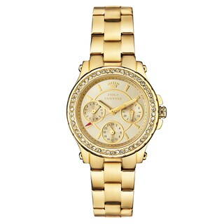 Juicy Couture Goldtone Stainless Steel Japanese Quartz Women's Watch