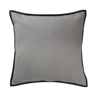 Blissliving Home Estevan Grey Faux-leather and Cotton Throw Pillow