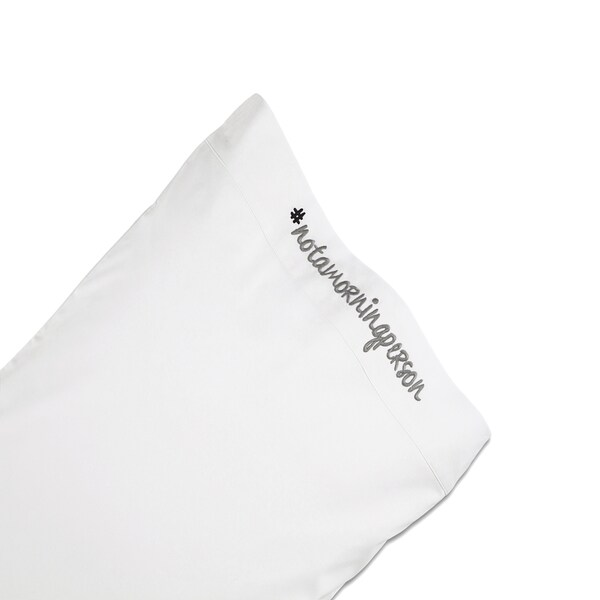 Chatterbox Embroidered Pillowcase