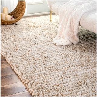 nuLOOM Handmade Wool Jute Moroccan Casual Natural Rug (7'6 x 9'6)