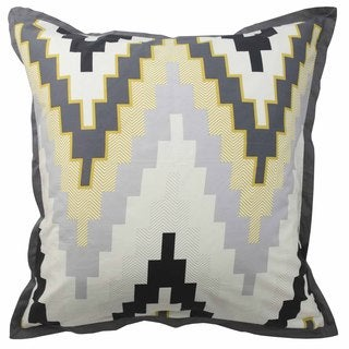 Blissliving Home Tanzania Harper Pewter Euro Pillow