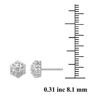 Unending Love 10k White Gold 1/2ct TDW Fashion Stud Earring (I-J, I2-I3)