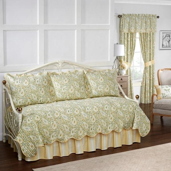 Waverly Paisley Verveine Quilt Daybed