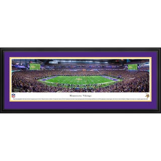 Blakeway Panoramas 'Minnesota Vikings - 1st Game at US Bank Stadium' Framed NFL Print