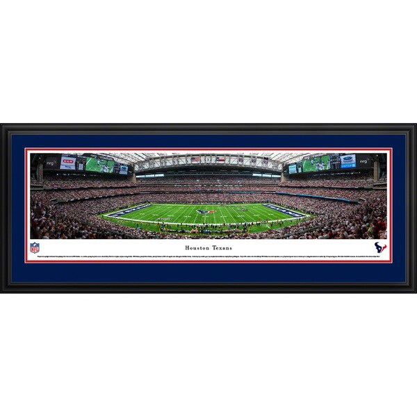 Blakeway Panoramas 'Houston Texans - 50 Yard Line' Framed NFL Print