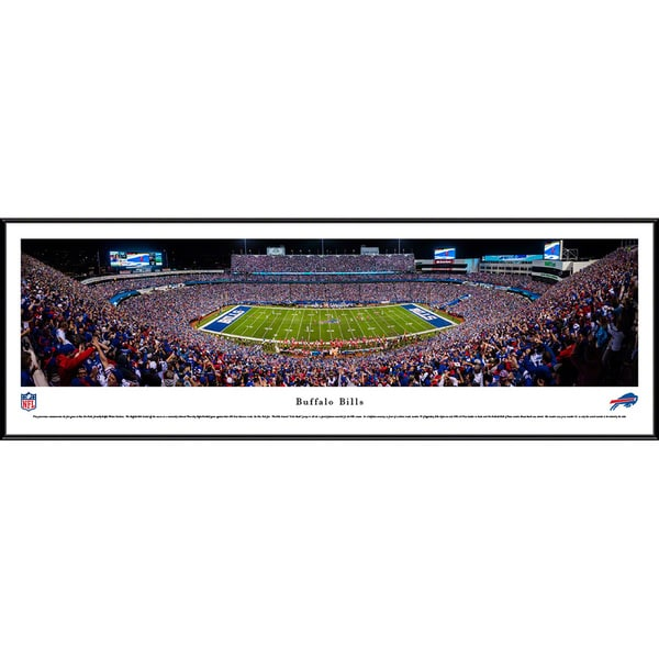 Blakeway Panoramas Buffalo Bills 50 Yard Line Framed NFL Print