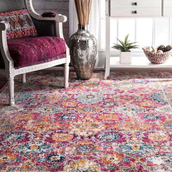 Shop NuLOOM Persian Floral Pink Rug