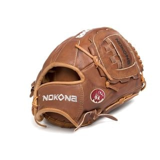 Nokona Walnut Brown Leather Left-handed Baseball/Softball Glove