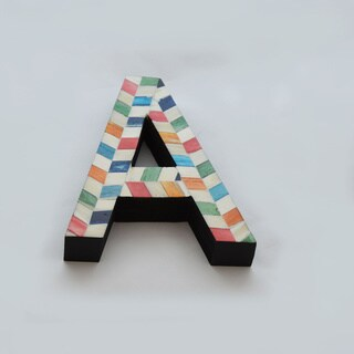 Bone Letters with Chevron Pattern
