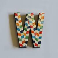 Bone Letters in Chevron Pattern