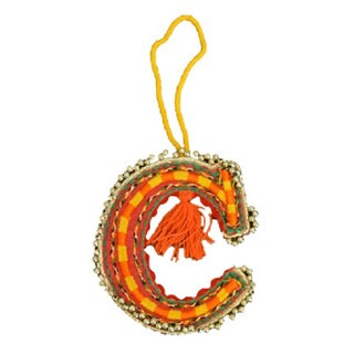 Felted Letter Ornaments