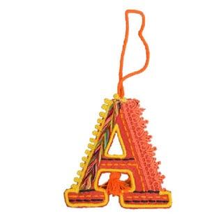 Felted Letter Ornaments (Option: Orange)