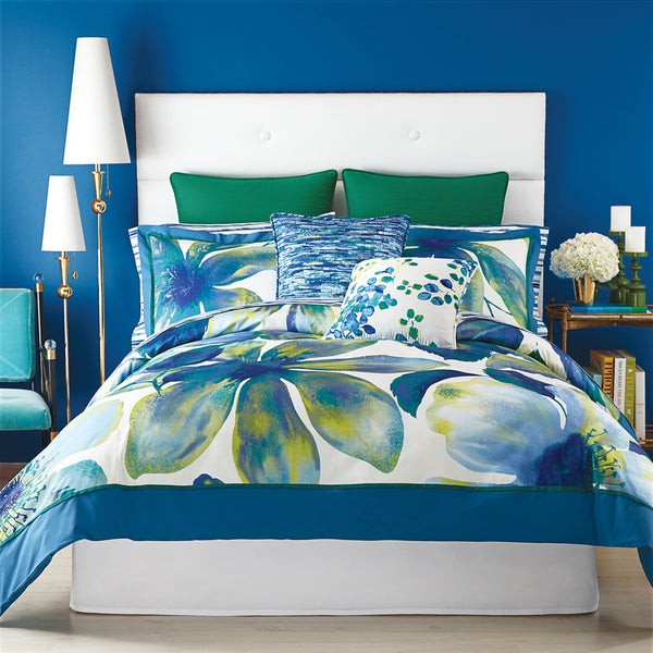 Christian Siriano Watercolor Bloom Floral Comforter and Pillow Shams