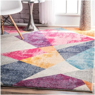 nuLOOM Contemporary Geometric Triangle Multi Rug (4' x 6')