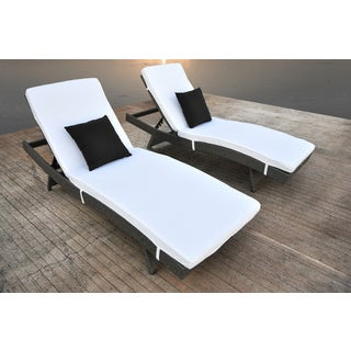 SOLIS Zori 2-Piece Chaise Lounge Set - Cement Gunmetal Gray  sc 1 st  Overstock : chaise lounge white - Sectionals, Sofas & Couches