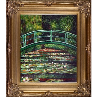 Claude Monet 'White Water Lilies, 1899' Hand Painted Framed Oil Reproduction on Canvas