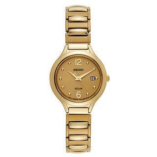 Seiko Women's Core Yellow Gold-plated Stainless Steel Watch