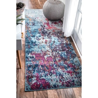 nuLOOM Contemporary Abstract Painting Multi Runner Rug (2'8 x 8')